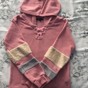 A pink hoodie for girls.